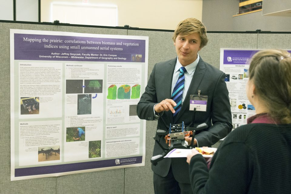 Jeff presenting at Fall Undergraduate Research Day Photo Credit: Tom Ganser