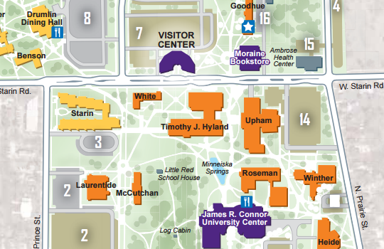 UWW campus map
