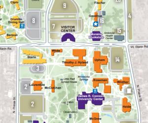 UWW campus map